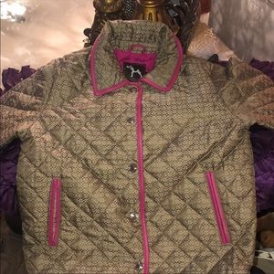 Kids coach winter jacket quilted monogram